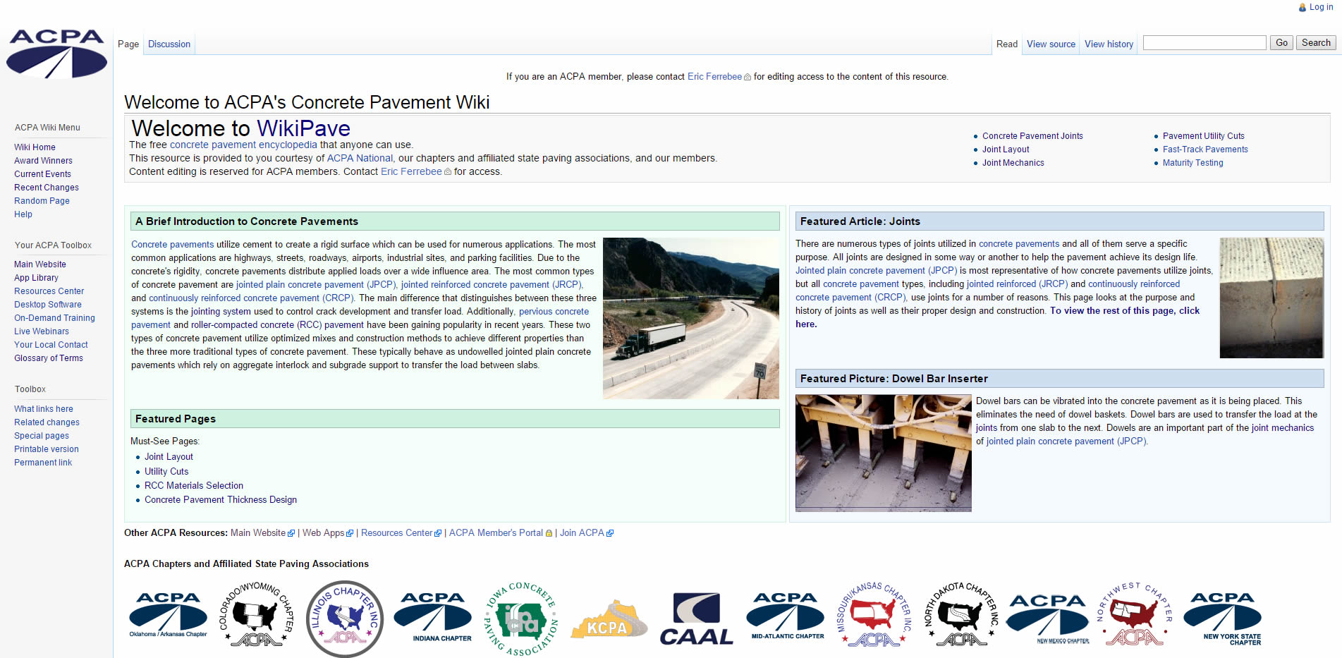 ACPA Launches <strong>Wikipave</strong>: a Concrete Pavement Wikipedia