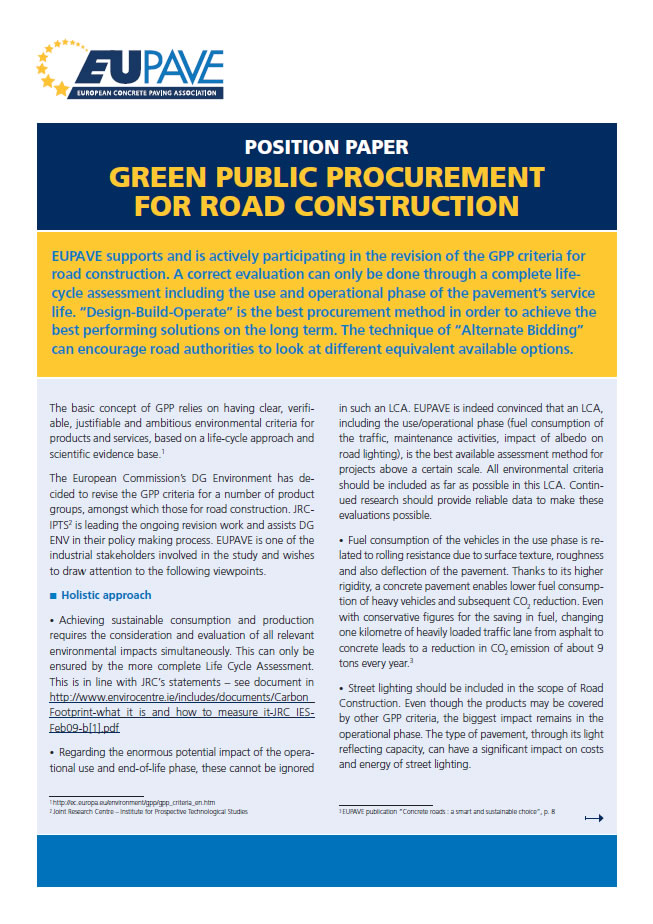 2nd Ad Hoc Working Group for the Revision of the EU Green Public Procurement Criteria for Road Construction, January 28 , 2015
