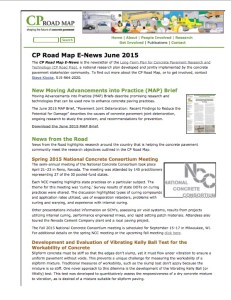 June CP Road Map E-News