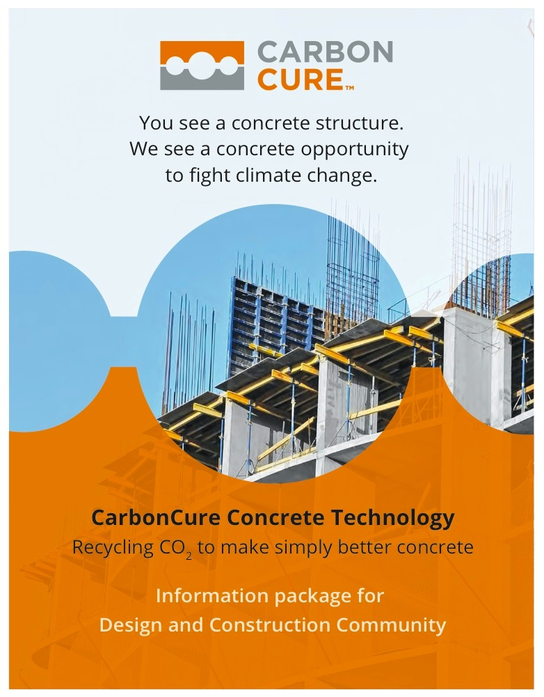 Recycling Carbon Dioxide in Concrete for a Lower Carbon Footprint