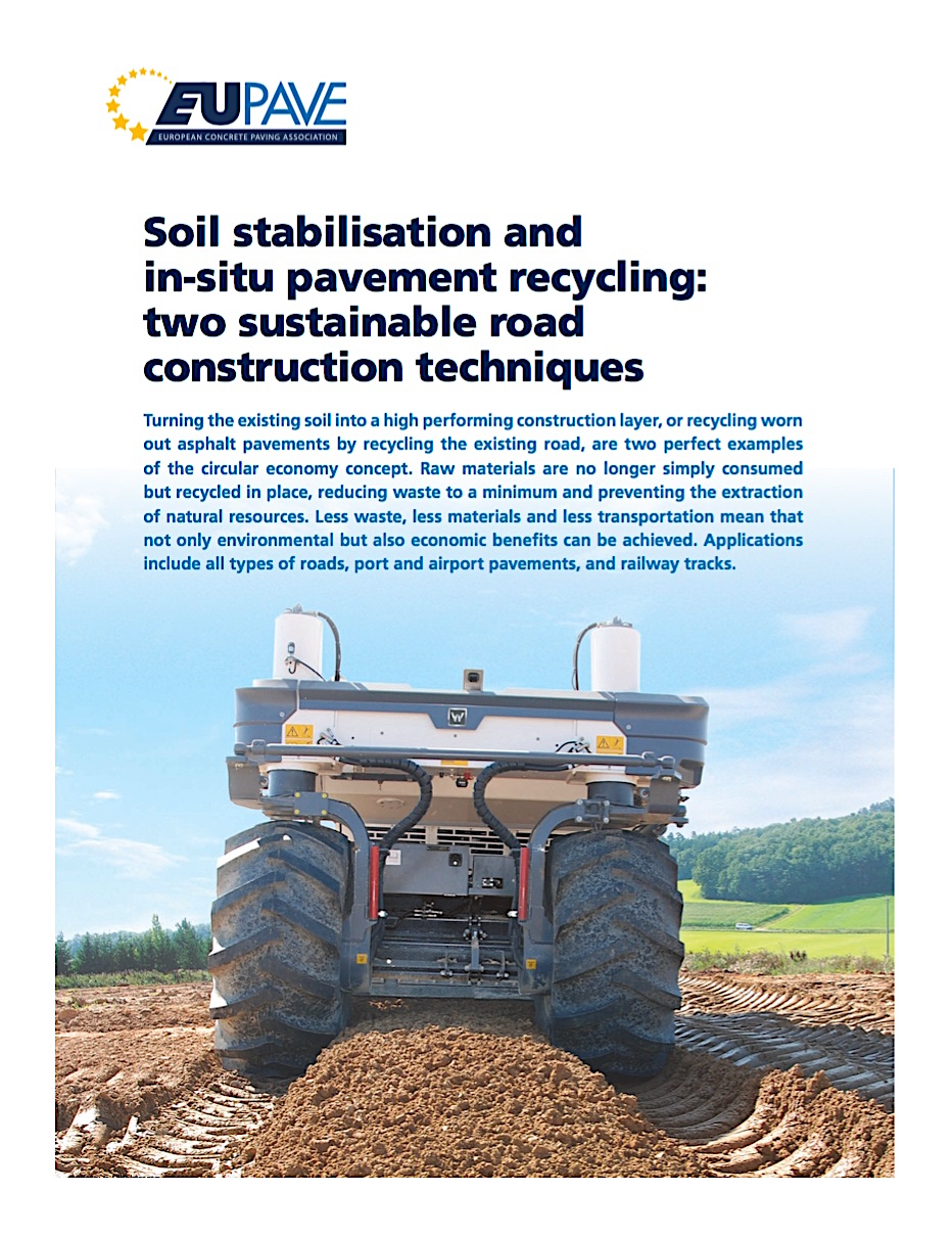 EUPAVE Leaflet: Soil Stabilization & In-Situ Pavement Recycling: 2 Sustainable Road Construction Techniques
