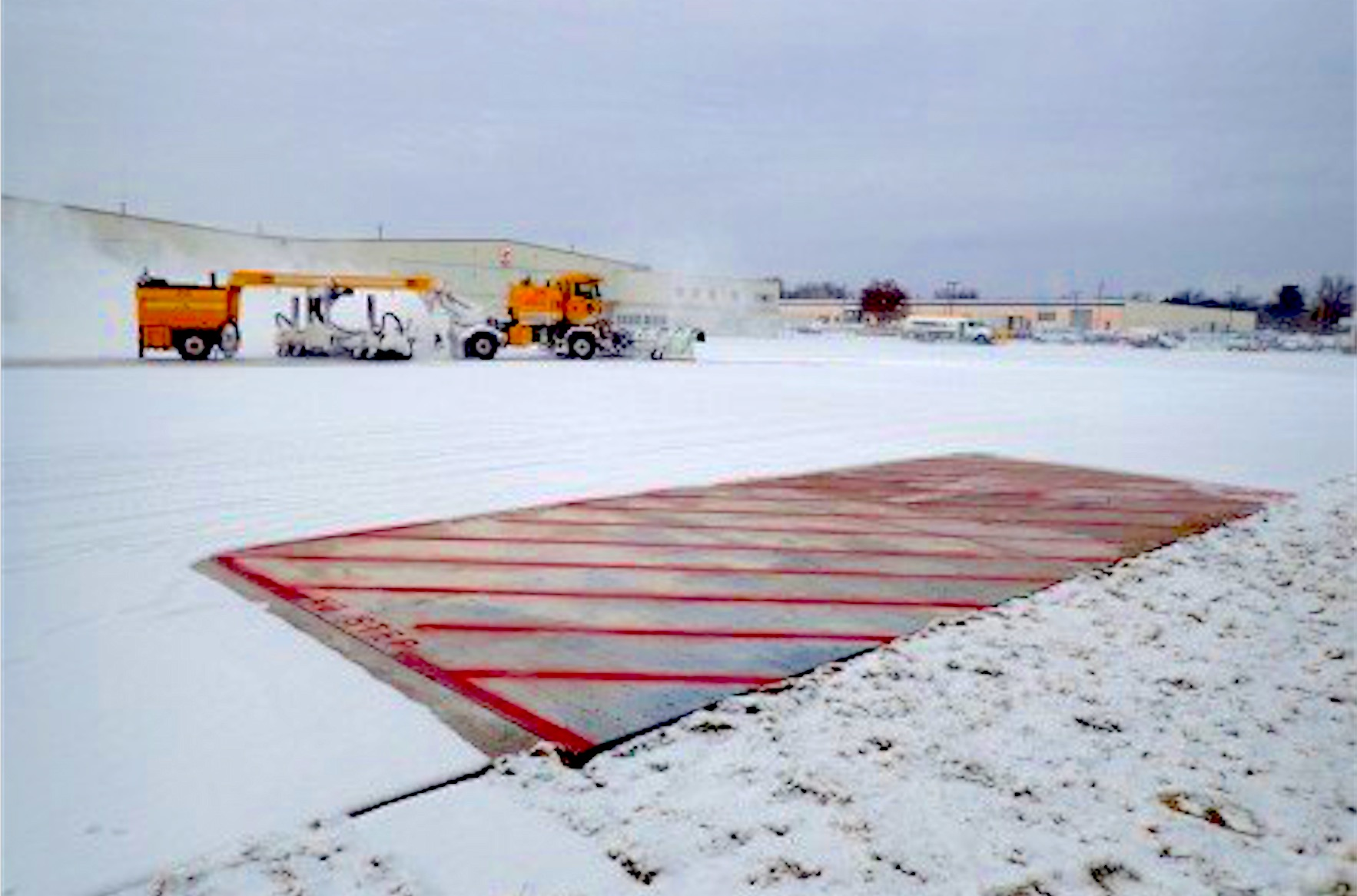 1st Full-Scale Heated Pavement Slabs Installed at American International Airport