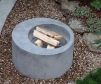 outdoor concrete fire pit boulder  Concrete Pete