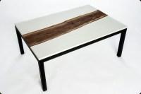 Concrete Pete  Concrete and live edge walnut table