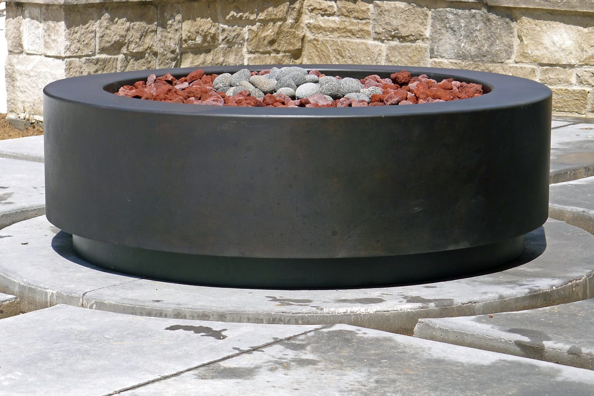 Concrete Pete  Denver round concrete fire pit