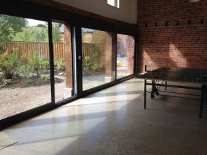 Polished concrete welshpool - barn conversion