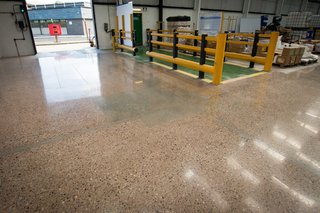 Concrete Polishing Warehouse Northwich Cheshire Factory Joint Repair