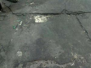 Damaged Concrete Floor