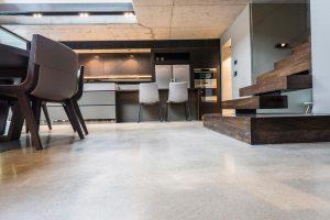 Modern Lounge Polished Concrete Floor