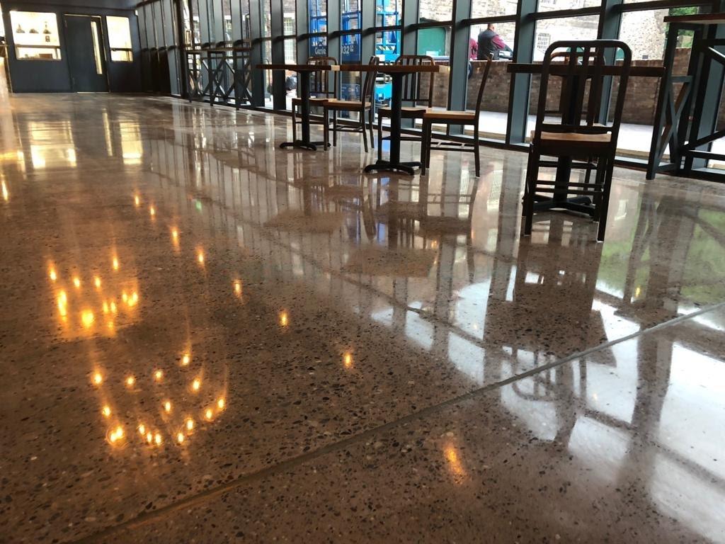 Polished Concrete Cafe Floor
