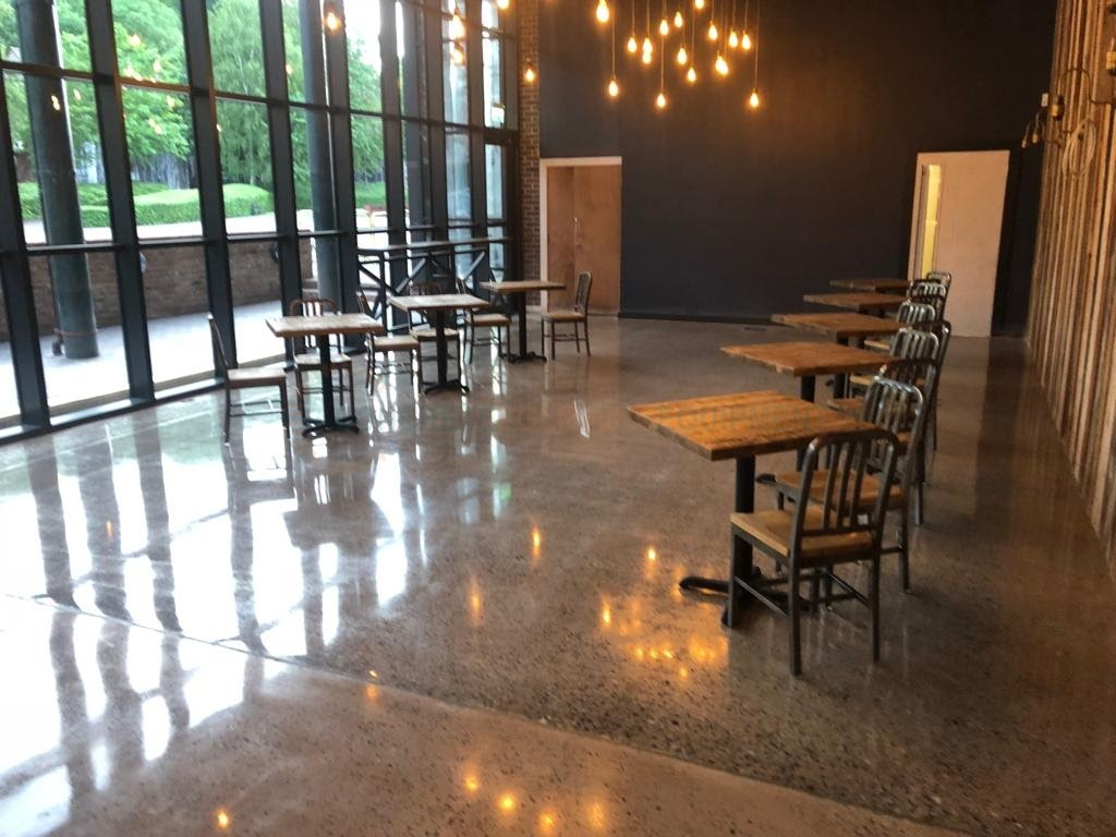 Polished Concrete Cafe Floor