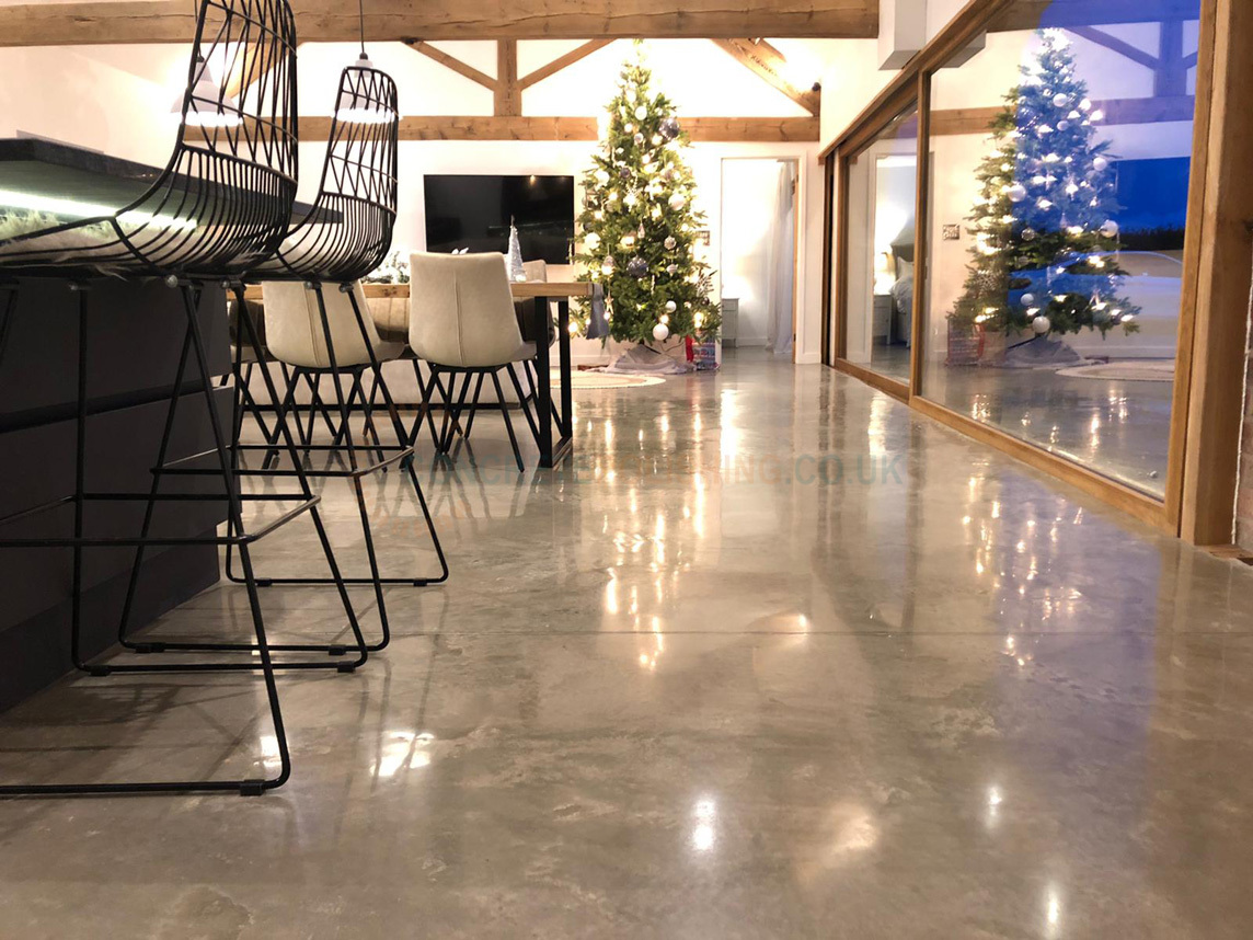 Residential Polished Concrete Wales