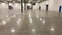 Polished concrete floor in Thermal Fisher