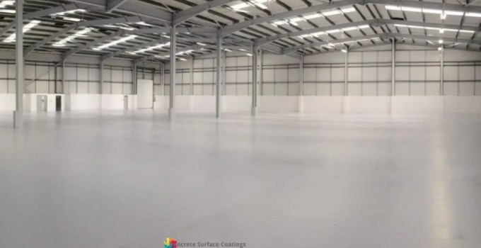 floor sealer in a warehouse distribution centre