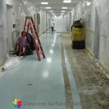 removing vinyl from a hallway in a hospital