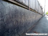 Stamped Concrete Retaining Wall in Burnaby, BC, Canada ...