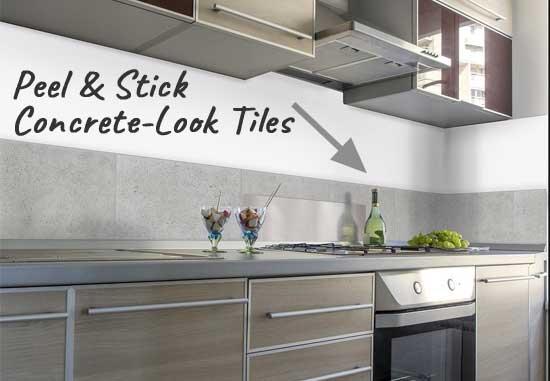 peel and stick concrete tile