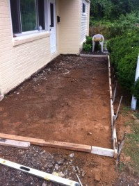 Before New Concrete Patio in Southern NJ