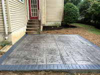 Pewter Grey Stamped Patio New England Pattern