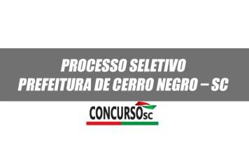 Processo Seletivo Prefeitura de Cerro Negro – SC