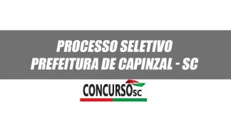 Prefeitura de Capinzal - SC Processo Seletivo