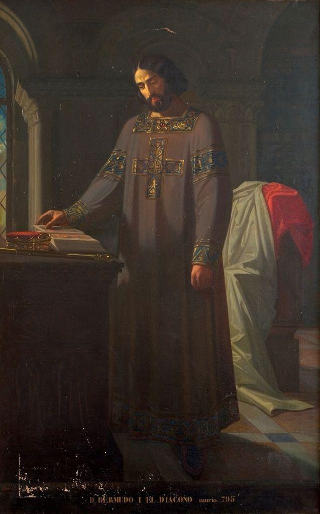 Bermudo I, el Diácono. Pintura de Isidoro Lozano (1852) en el Museo del Prado