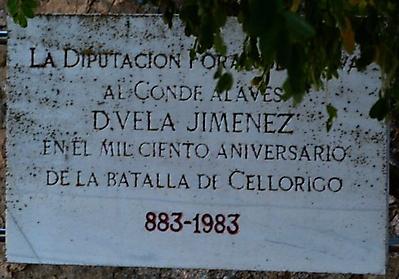 Placa conmemorativa batalla de Cellorigo del 883