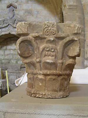 Capitel prerrománico o mozárabe de Cellorigo 1
