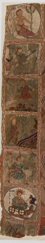 Meses y días en el tapiz de la Creación de la Catedral de Gerona