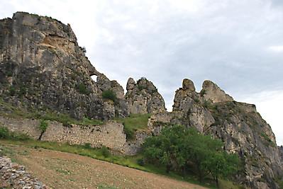 Restos del castillo de Santa Marta en Pancorbo