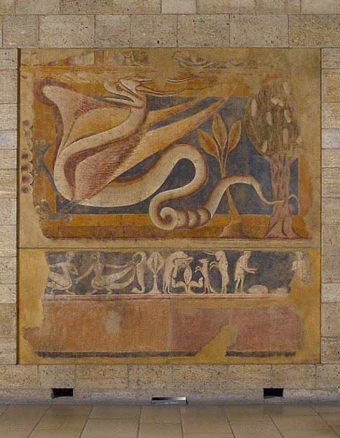 Dragón. Pintura mural de San Pedro de Arlanza