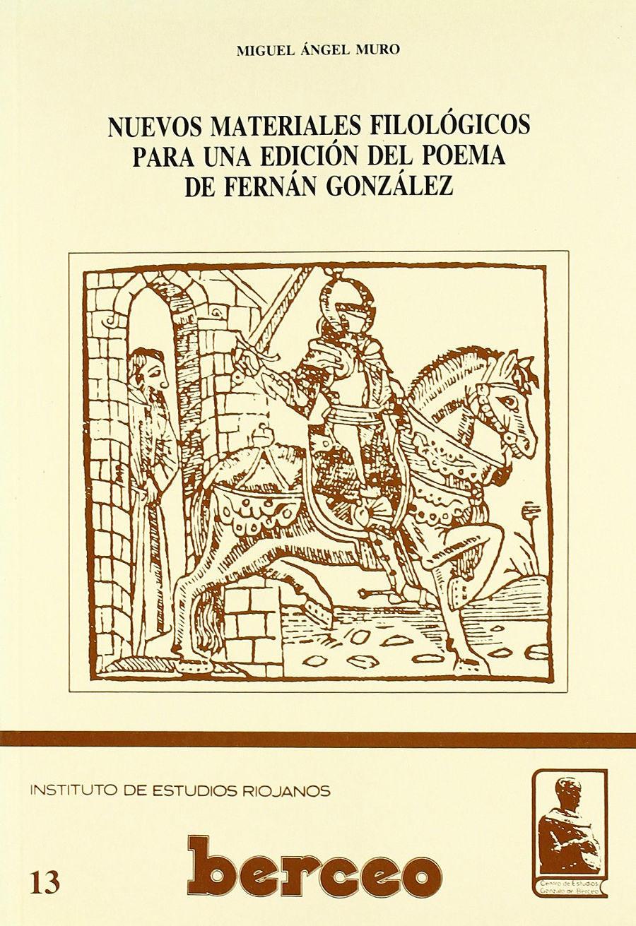 Nuevos materiales filológicos para una edición del Poema de Fernán González Book Cover