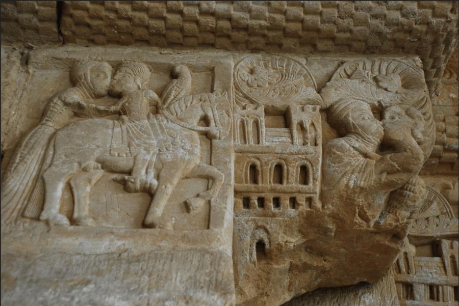 Beso del rey Favila a Froiliuba en San Pedro de Villanueva