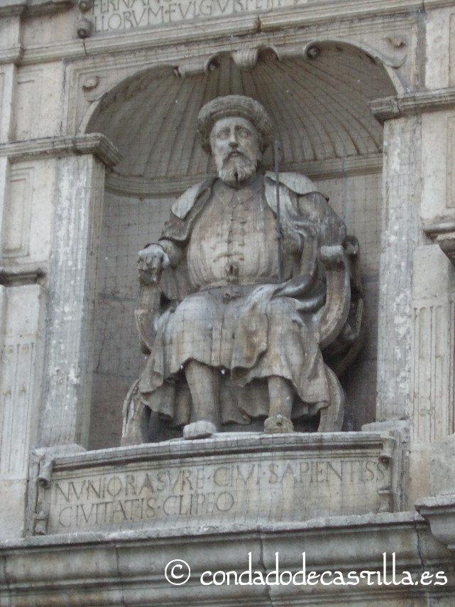 Nuño Rasura en el Arco de Santa María de Burgos