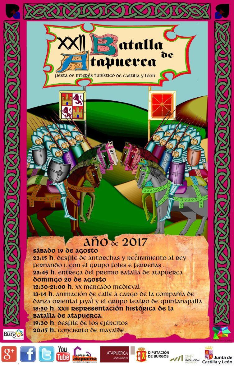 Representación de la Batalla de Atapuerca 2017