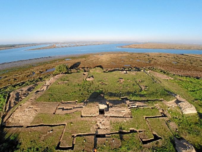 Restos de la ciudad musulmana de la isla de Saltés (Huelva)