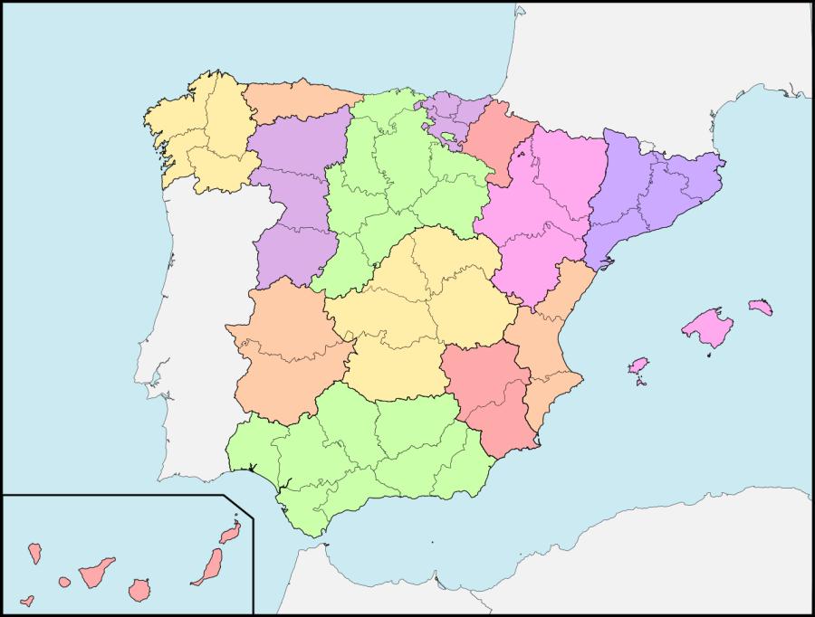 División en regiones en 1833
