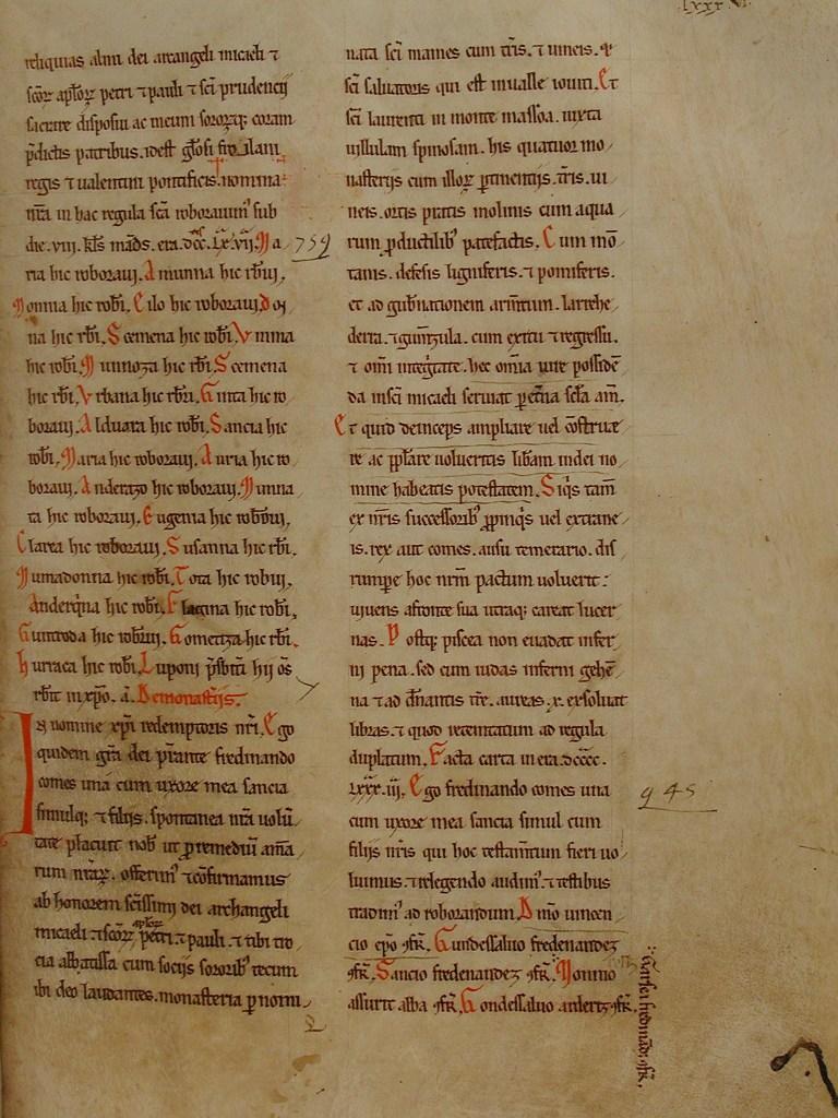 Folio 86 - Becerro Gótico de San Millán de la Cogolla