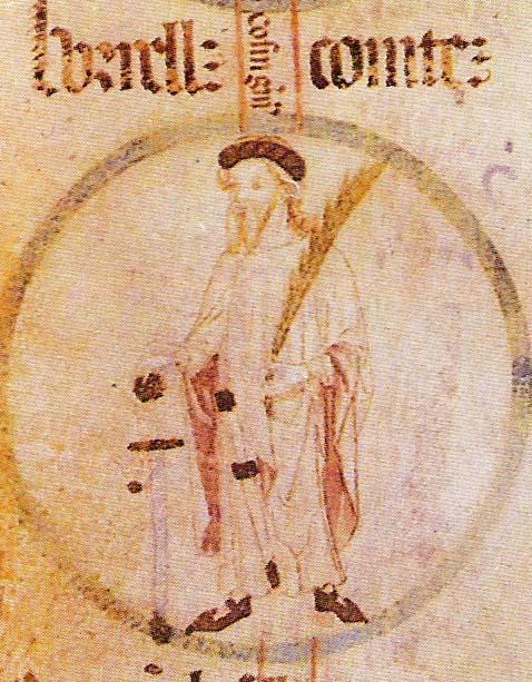 Borrell II de Barcelona en el Rotlle genealògic del Monestir de Poblet
