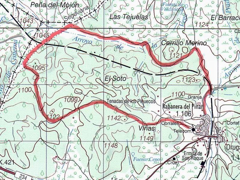 Mapa sendero PRC-BU-11