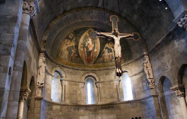 Ábside de San Martín de Fuentidueña en Nueva York