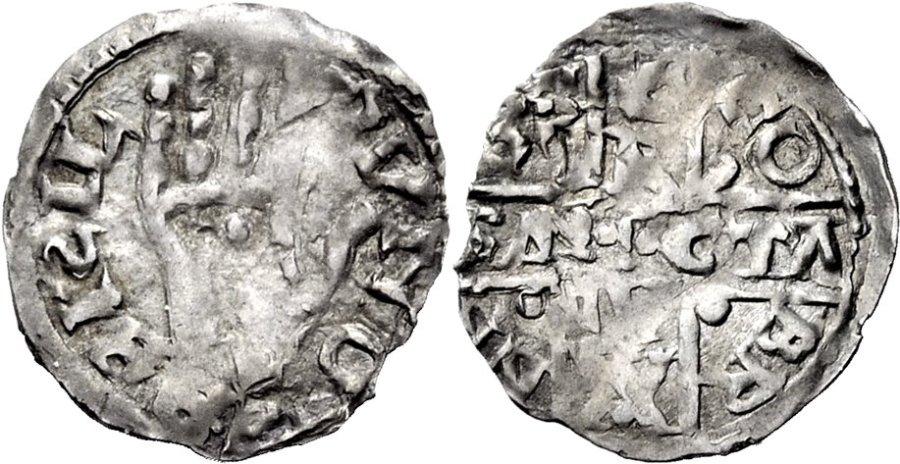 Dinero de Bernardo II de Besalú