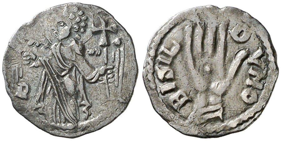 Moneda atribuida a Guillermo II y Bernardo II de Besalú