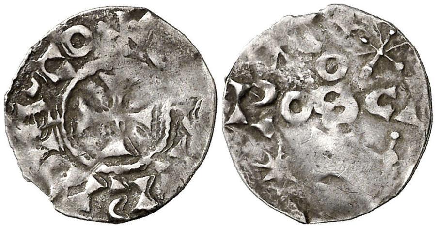 Óbolo de plata de Gausfredo II de Rosellón