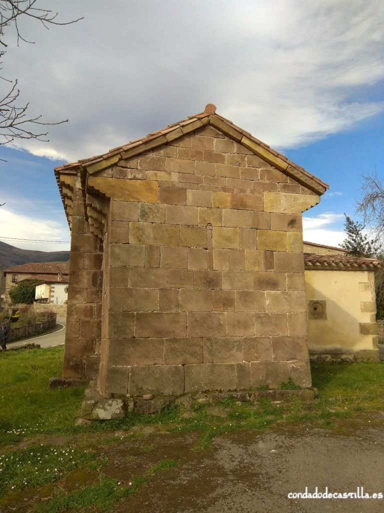 Muro este del ábside de Santa Leocadia de Helguera