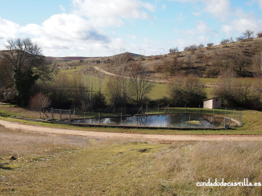 Fuente de los Mártires en Modúbar de San Cibrián (Burgos)