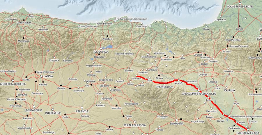 Via Italia in Hispania. Mapa tomado de http://dare.ht.lu.se/