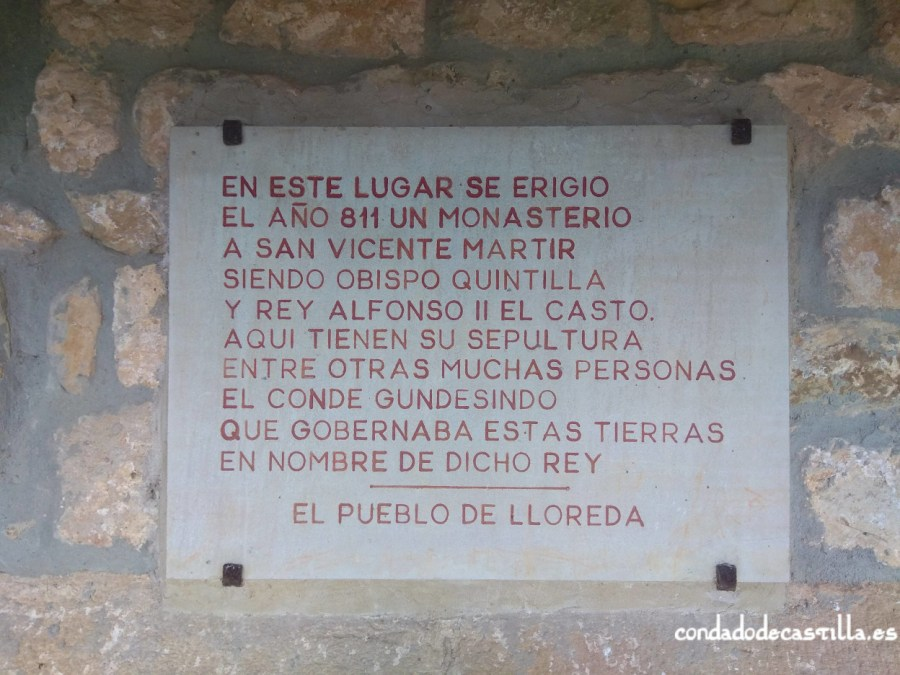 Placa conmemorativa del monasterio de San Vicente (811)
