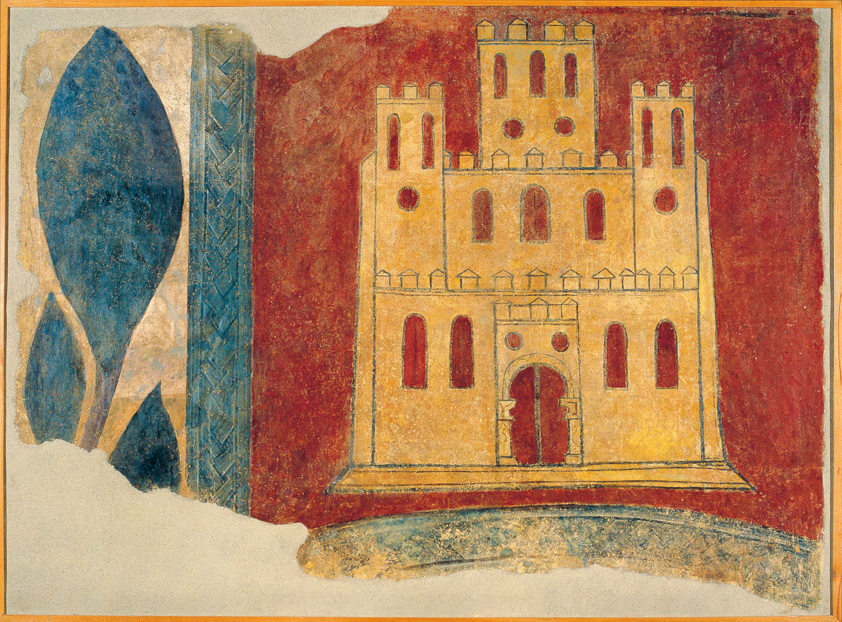 Escudo de Castilla. San Pedro de Arlanza. Galería de arte románico del MNAC de Barcelona.