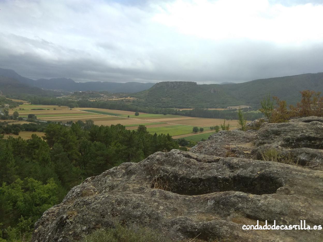 Valle de Tobalina desde la Peña de San Clemente